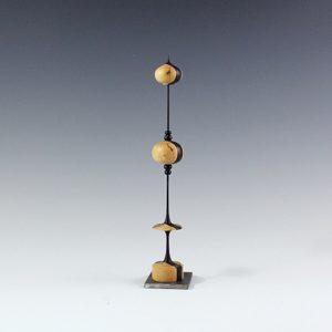 Sculpture tournée sur bois – Trembleurs en Ébène et Buis