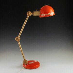 """Lampe articulée en bois Study Color """"OrangeMécanique"""""""