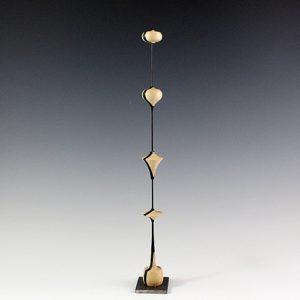 Sculpture tournée sur bois – Trembleurs en Ébène et Charme