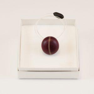 Collier pendentif grain de café Amarante Érable Ébène
