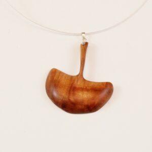 Collier Ginko pendentif Prunier